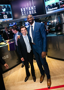 Kobe Bryant and Jeff Stibel at the NYSE