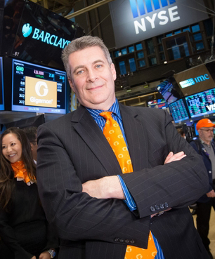 Gigamon CEO Paul Hooper at the New York Stock Exchange