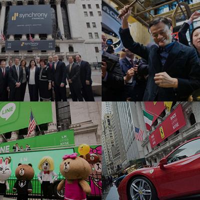 Bell ringing and excitement of IPOs at NYSE