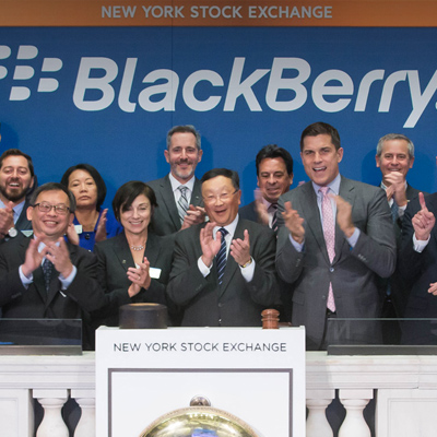 Blackberry rings the Bell at the NYSE